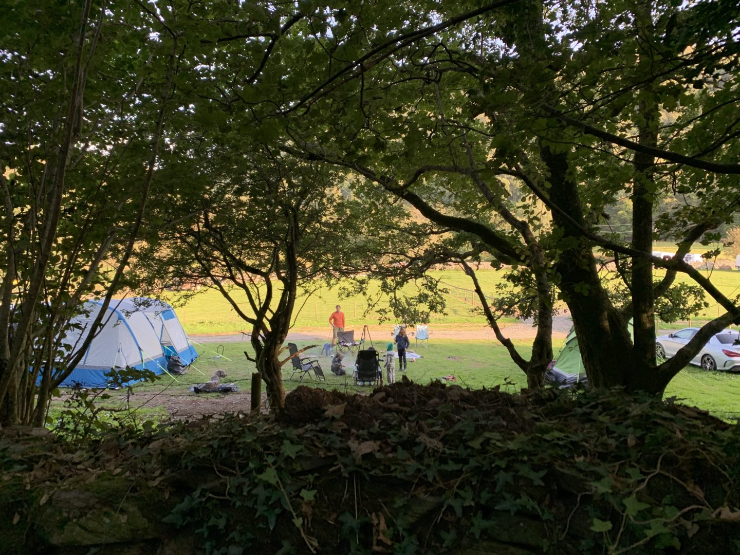 Camping as a family in the Snowdonia National park